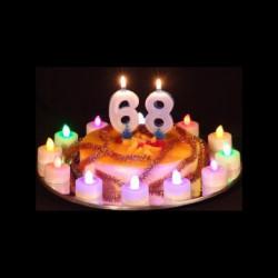 Les illuminations du gâteau