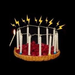 12 bougies éclair roses