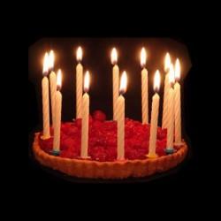 12 bougies éclair bleues