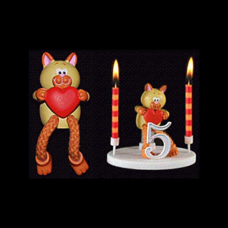 Le chat de la ménagerie pour anniversaire