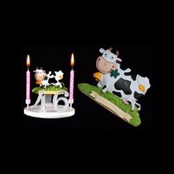 La vache folle 'au pré pour anniversaire