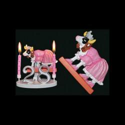 La vache folle sa majesté pour anniversaire