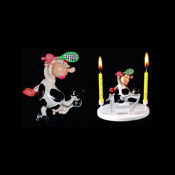 La vache folle tenniswoman pour anniversaire