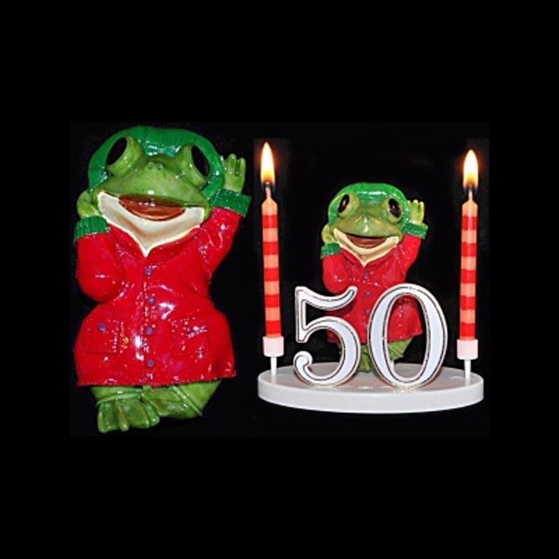 La grenouille du bonheur rouge pour anniversaire