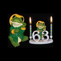 La grenouille du bonheur verte pour anniversaire