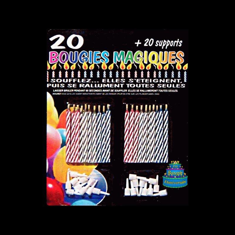 Les Bougies Magiques (20 pièces)