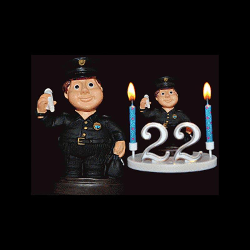Le policier, l'hirondelle, le flic, etc... pour anniversaire
