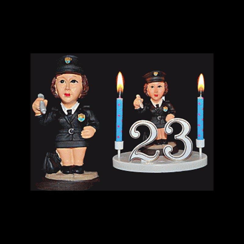 La pervenche, la policière, la contractuelle, etc... pour anniversaire