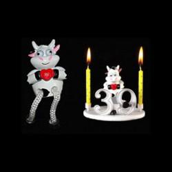 La vache folle au cœur pour anniversaire