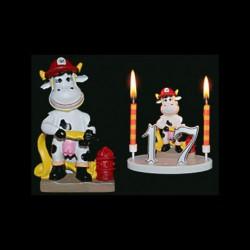 Le taureau Mr. Pompier pour anniversaire