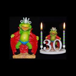 La grenouille Mr. Roi pour anniversaire