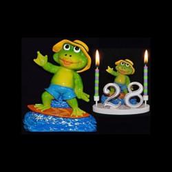 La grenouille Mr. Surfeur pour anniversaire