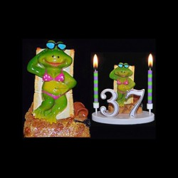 La grenouille Mme Bronze pour anniversaire