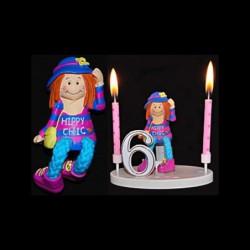 Mlle Zozo hippy pour anniversaire