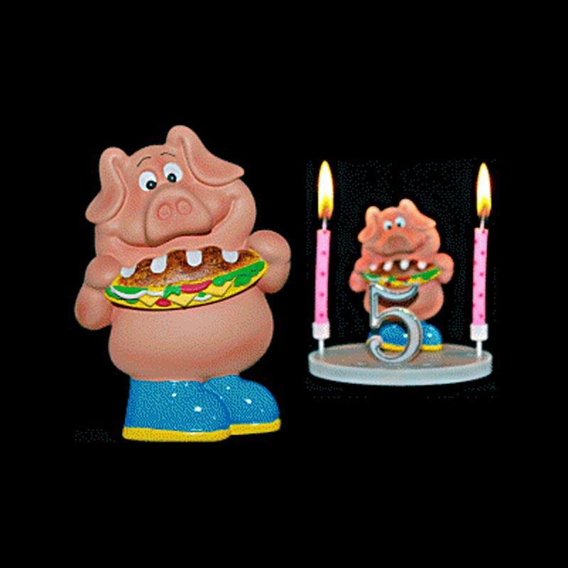 Le cochon au sandwich pour anniversaire