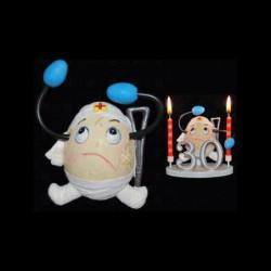 L'œuf accidenté pour anniversaire
