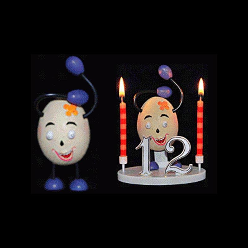 L'œuf à la fleur pour anniversaire
