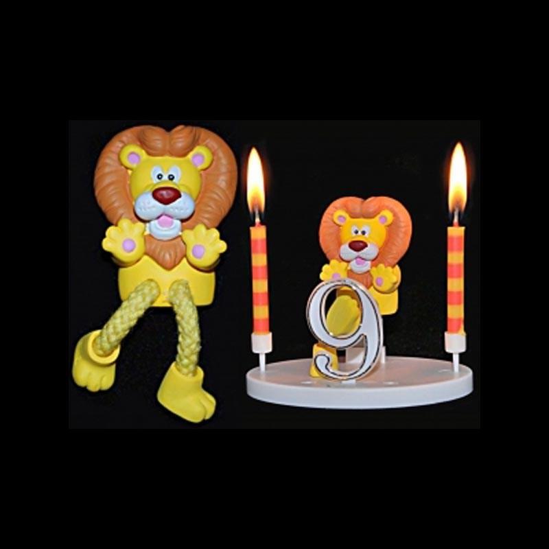 Le lion de la ménagerie pour anniversaire