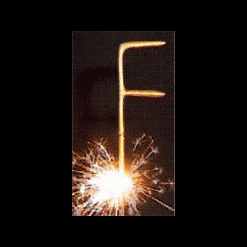 Stick lettre F