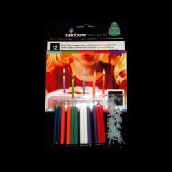 Coffret de 12 Bougies Flamme Colorée
