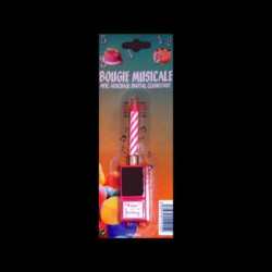 Bougie Musicale Rose avec Affichage Digital Clignotant