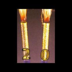 Blister de 2 fontaines or + 20 chiffres dorés