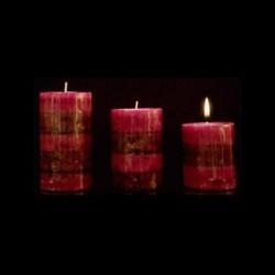 Les bougies trio parfum framboise