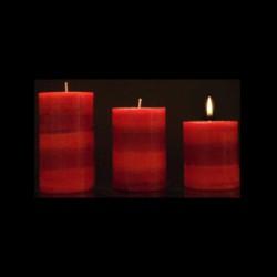 Les bougies trio parfum fruit de la passion