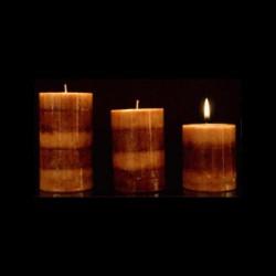 Les bougies trio parfum chocolat
