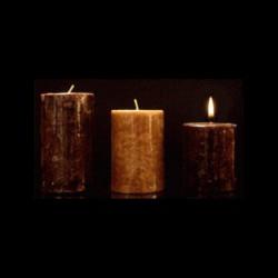 Les bougies trio parfum amande