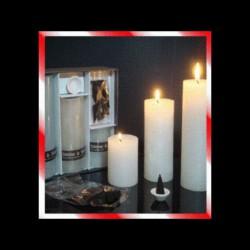 Coffret 3 bougies parfumées avec encens