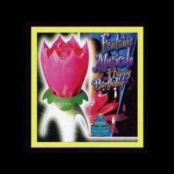 Bougies Fleur artifice et musicale