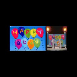 Texte : happy birthday