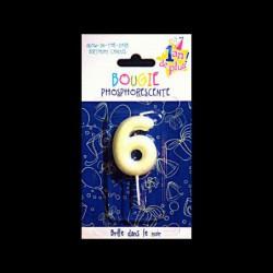 Chiffre phosphorescent n°6