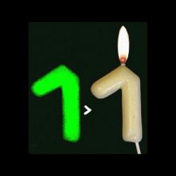 Chiffre phosphorescent n°7