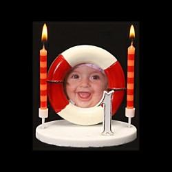 Le porte-photo bouée rouge pour anniversaire