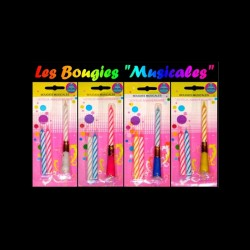 Bougie musicale bleue