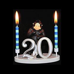 Le gorille de la ménagerie pour anniversaire