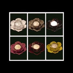 Le bougeoir rose noir