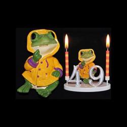 La grenouille du bonheur jaune pour anniversaire