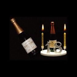 Champagne blanc pour anniversaire